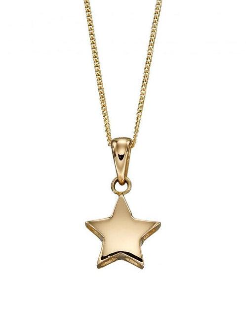 9ct Gold Star Pendant