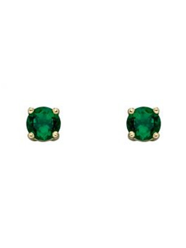 9ct Gold May Emerald Studs