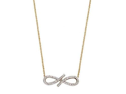 9ct Gold Diamond Infinity Necklace
