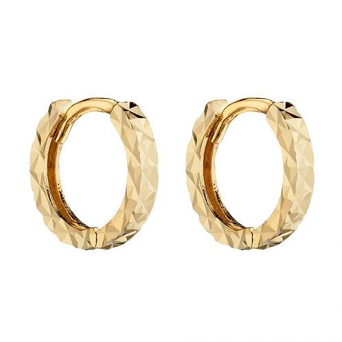 9ct Gold Diamond Cut Creoles