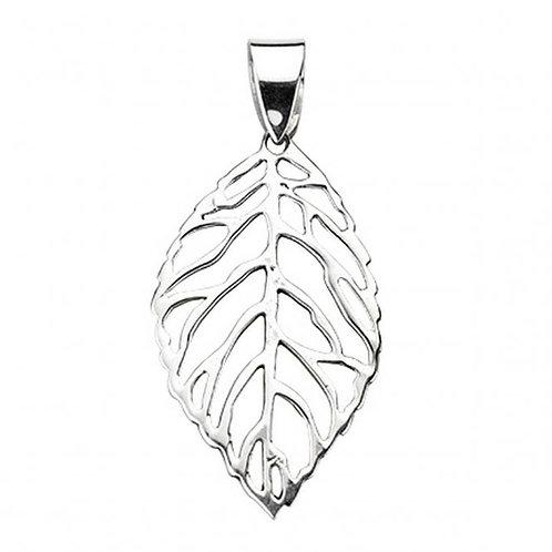 Sterling Silver Leaf Pendant