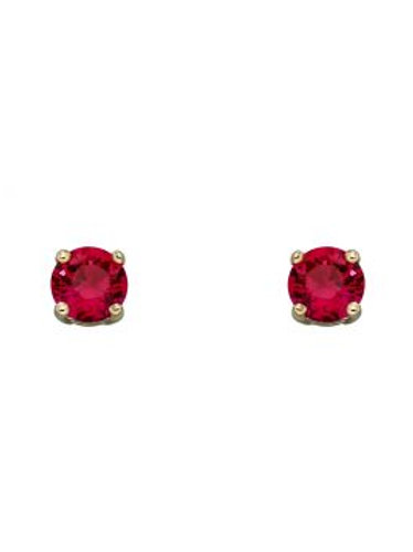 9ct Gold July Ruby Studs