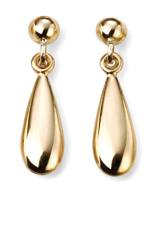 9ct Gold Teardrop Earrings