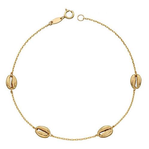 9ct Gold Seashell Bracelet