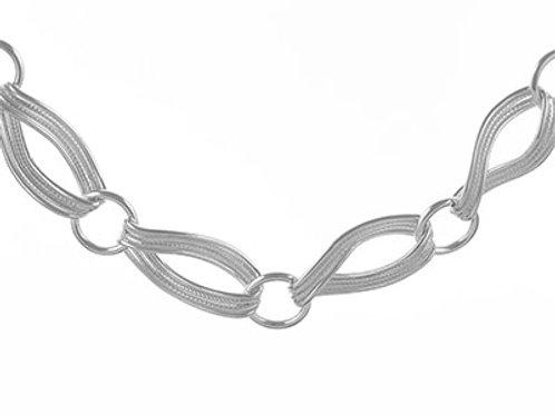 Sterling Silver Handmade Ribbon Bracelet