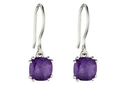 Sterling Silver natural Amethyst earrings