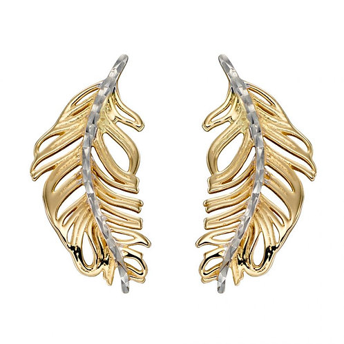 9ct Gold Feather Studs