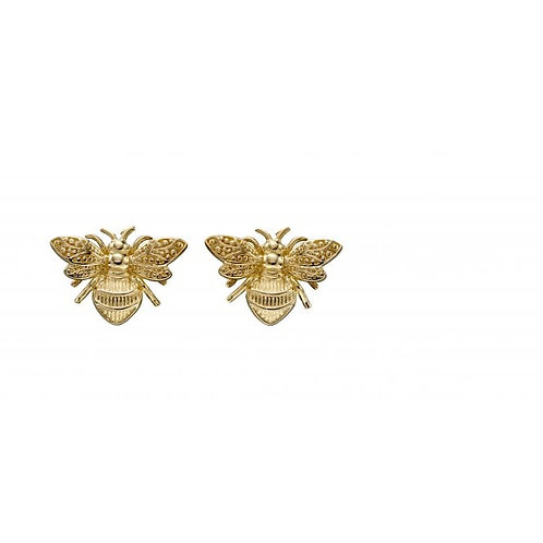 9ct Gold Bumble Bee Studs