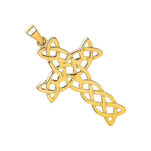 9ct Gold Celtic Cross