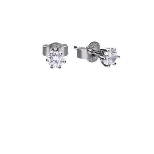 Solitaire 0.5ct Claw Set Stud Earrings with Diamonfire cubic zirconia