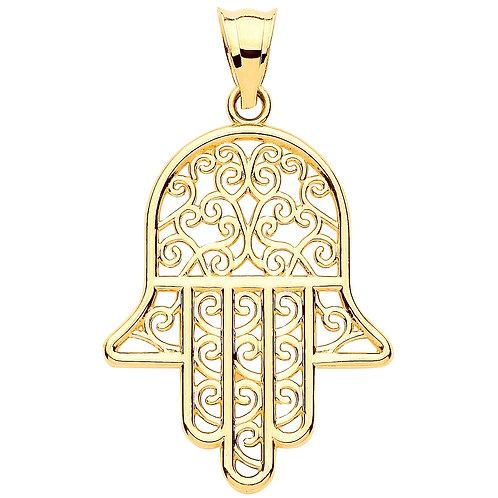 9ct Gold Hand of Hamsa Pendant