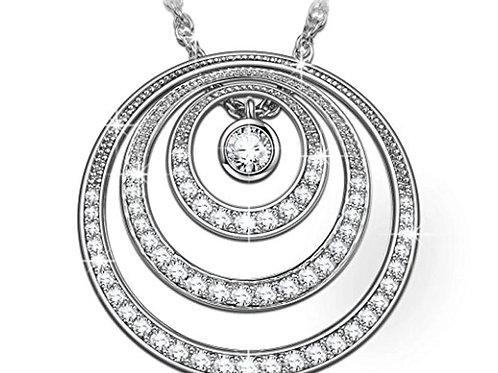 Sterling Silver CZ circle pendant