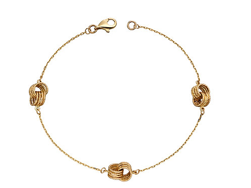 9ct Gold twisted bracelet