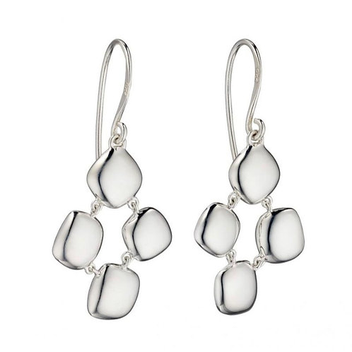 Sterling Silver Pebble Droppers