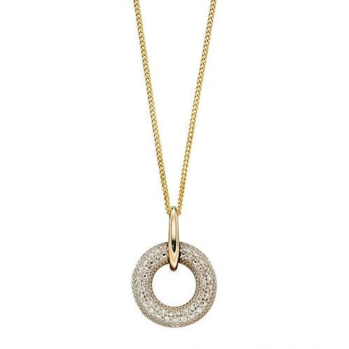 9ct Gold Diamond Doughnut Pendant