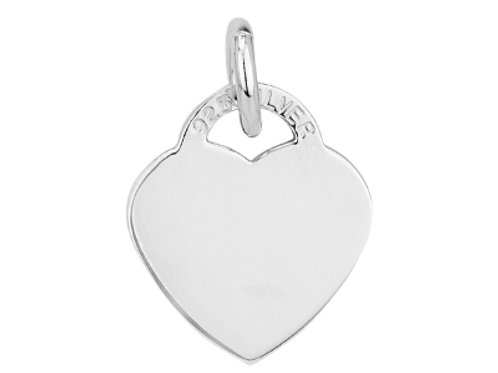 Sterling Silver Engravable Heart Disc