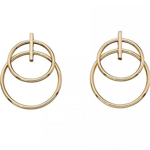 9ct Gold Double Circle Earrings