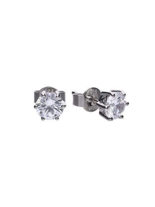 Solitaire 1.5ct Claw Set Stud Earrings with Diamonfire zirconia