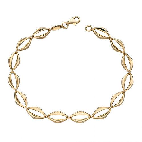 9ct Gold Open Eye Link Bracelet