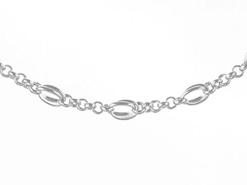 Sterling Silver 6.5mm Handmade Bracelet