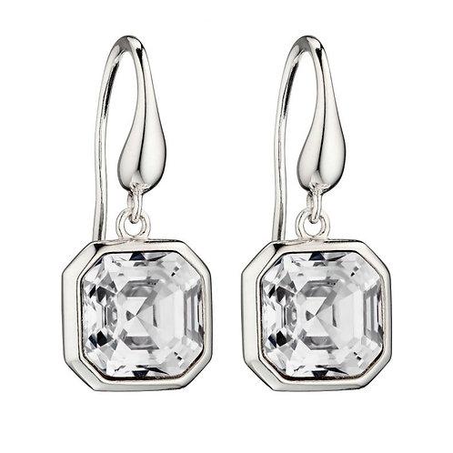 Sterling Silver Swarovski  Crystal Droppers