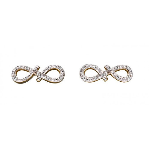9ct Gold Diamond Infinity Studs