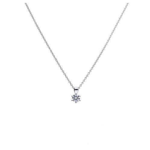 Solitaire 0.75ct Claw Set Pendant with Diamonfire cubic zirconia