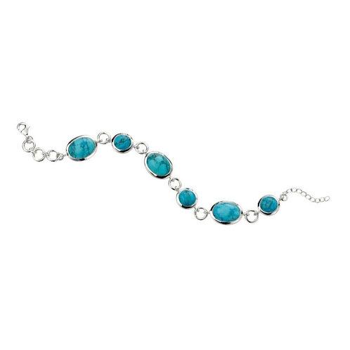 Sterling Silver Magnesite Bracelet
