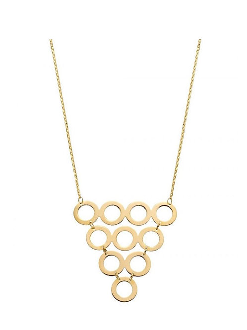 9ct Gold Geometric Circles Necklace