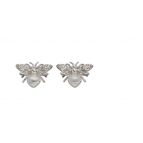 9ct White Gold Bumble Bee Studs