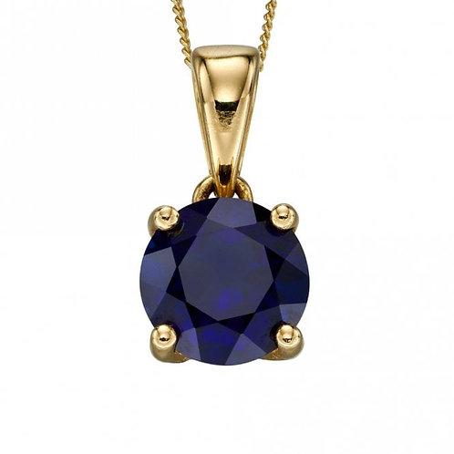 9ct Gold September Sapphire Pendant