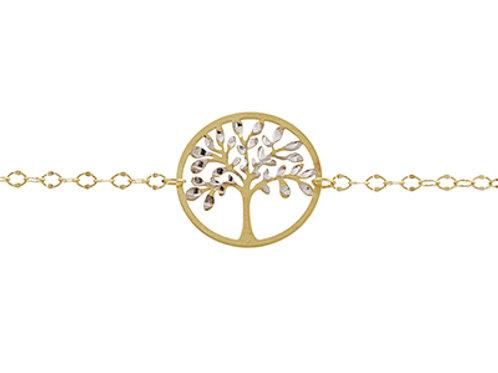 9ct Gold tree of life bracelet