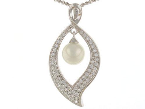 Sterling Silver freshwater Pearl teardrop pendant