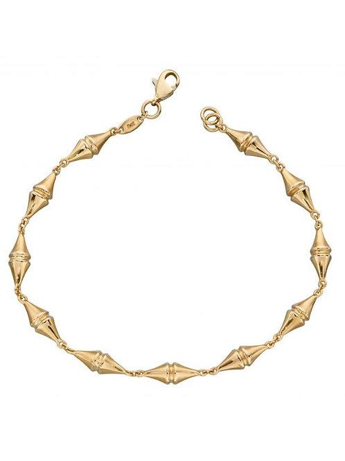 9ct Gold Kite Shapes Bracelet