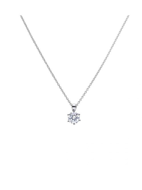 Solitaire 2ct Claw Set Pendant with Diamonfire cubic zirconia