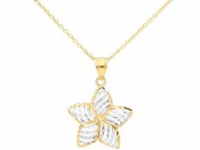 9ct Gold Flower pendant