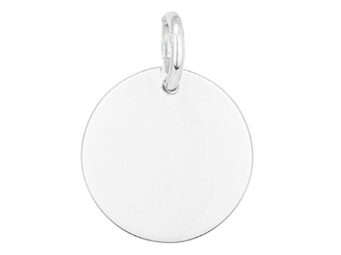 Sterling Silver Engravable Round Disc