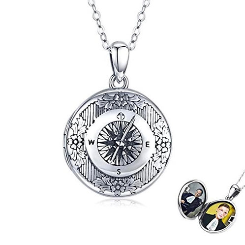 Sterling Silver Compass Locket