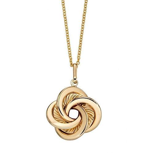 9ct Gold Swirl Knot Pendant