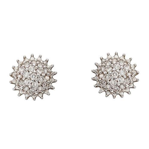 9ct Gold Diamond Urchin Cluster Studs