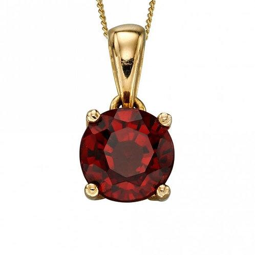9ct Gold January Garnet Pendant