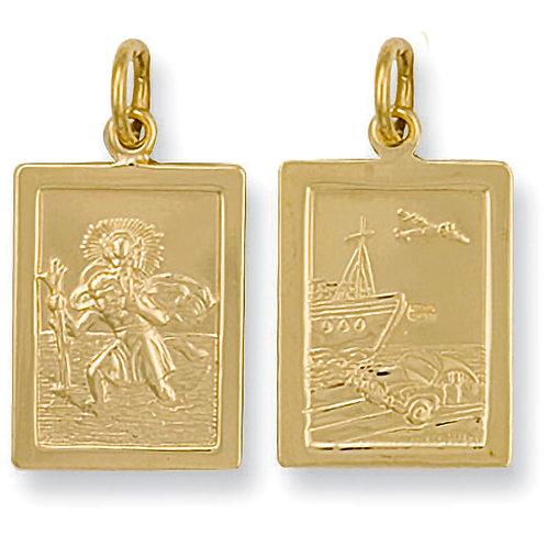 9ct Gold Rectangular St. Christopher