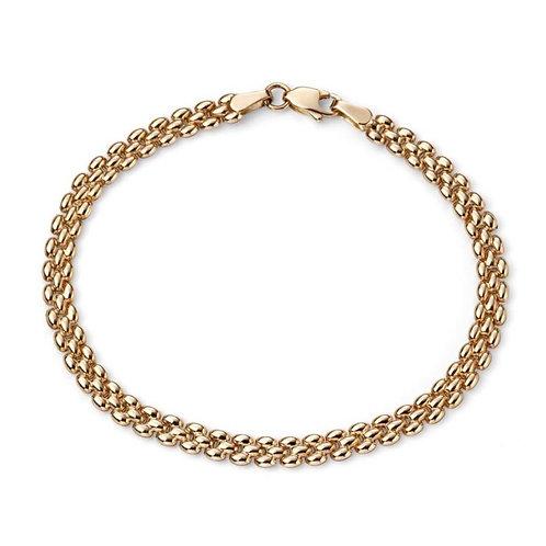 9ct Gold 3 Bar Bracelet