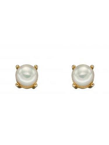 9ct Gold June Pearl Studs