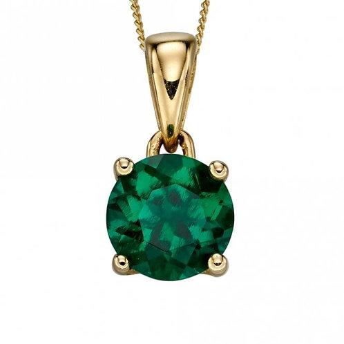 9ct Gold May Emerald Pendant