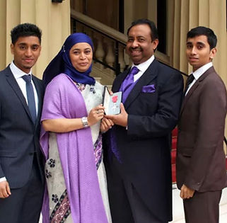 Bajloor and family at Buckingham Palace