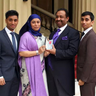 Bajloor and his family at Buckingham Palace