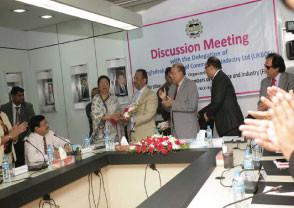 Bajloor Rashid at Dhaka Chamber  of Commerce meeting