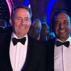 Dr Liam Fox MP with Bajloor.