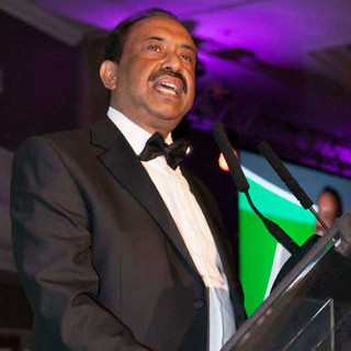 Giving a speech at the UKBCCI Business Awards